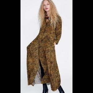 ZARA l Animal Print Dress